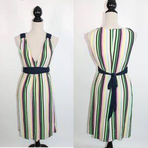 Eva Franco Striped Jersey Knit Dress 8